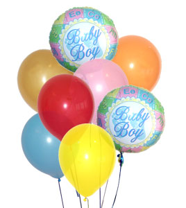 Add 6 latex and 2 mylar balloons with a specified theme to your order for $42.95